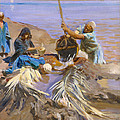 Egyptians Raising Water From The Nile by John Singer Sargent
