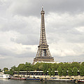 Eiffel Tower And The Seine by For Ninety One Days