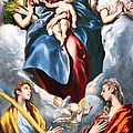 El Greco's Madonna And Child With Saint Martina And Saint Agnes by Cora Wandel