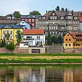Elbe River Town by Gene Norris