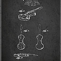 Electric Violin Patent Drawing From 1960 by Aged Pixel