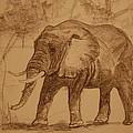 Elephant Walk by Lynn Beazley Blair