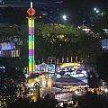 Elevated View Of The 2011 San Mateo County Fair by Scott Lenhart