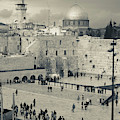 Elevated View Of The Western Wall by Panoramic Images