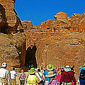Entering Mile-long And 600 Foot High Gorge Leading To Treasury In Petra-jordan  by Ruth Hager