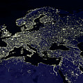 Europe At Night by Nasa
