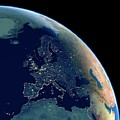 Europe At Night by Planetary Visions Ltd/science Photo Library