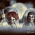 Evil Zombie Clown Doctors Rising From The Dead by Jorgo Photography - Wall Art Gallery
