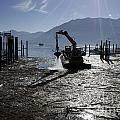 Excavator Clean A Harbor by Mats Silvan