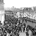 Fans Leaving Yankee Stadium. by Underwood Archives