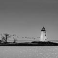 Fayerweather Island Light And Penfield Reef Beacon by Randy Scherkenbach