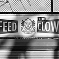 Feed The Clown In Black And White by Rob Hans