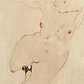 Female nude by Egon Schiele