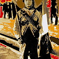 Female Soldier With Mexican Flag  Unknown Location C. 1914-2014 by David Lee Guss