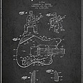 Fender Guitar Patent Drawing From 1960 by Aged Pixel