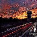 Fiery Sunset by Jim Lepard
