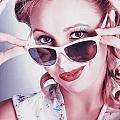 Fifties Glamor Girl Wearing Retro Pin-up Fashion by Jorgo Photography - Wall Art Gallery