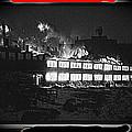 Film Homage Chris Marker La Jetee 1962 Winter Fire Collage Aberdeen South Dakota 1965-2013 by David Lee Guss