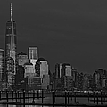 Financial District In New York City At Twilight by Susan Candelario