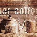 Fine Art Coffee Shop Tin Sign Insignia by Jorgo Photography - Wall Art Gallery