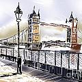 Fine Art Drawing The Tower Bridge In London Uk by Jorgo Photography - Wall Art Gallery