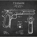 Firearm Patent Drawing From 1897 - Dark by Aged Pixel