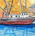 Fishing Trawler by Eric  Schiabor