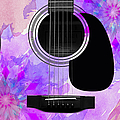 Floral Abstract Guitar 17 by Andee Design