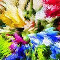 Floral Art X by Tina Baxter