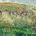 Flowering Plum Trees by Claude Monet
