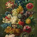 Flowers In A Vase by Paulus Theodorus van Brussel