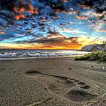 Foot Print In The Sand by Michael Frank Jr