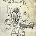 1927 Football Helmet Patent by Jon Neidert
