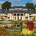 Formal Garden In Front Of A Castle by Panoramic Images