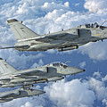 Formation Of Italian Air Force Amx-acol by Giovanni Colla