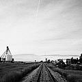 former canadian pacific railway now great sandhills railway through leader Saskatchewan Canada by Joe Fox