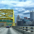 Fort Pitt Bridge And Downtown Pittsburgh by Thomas R Fletcher