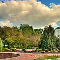 Founders Hall From The Garden by Mark Dodd