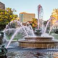 Fountain In The Pink by Terri Morris