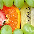 Fresh Fruit Mix Background by Sylvie Bouchard