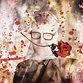 Funny Valentine Nerd Caught In Net Of Romance  by Jorgo Photography - Wall Art Gallery