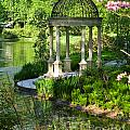 Gazebo By Lake by Iris Richardson