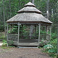 Gazebo In The Woods by Catherine Gagne