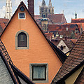 German Rooftops Impasto by Sharon Foster