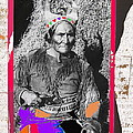 Geronimo With Pistol Ft. Sill Oklahoma Collage Circa 1910-2012 by David Lee Guss