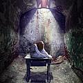 Girl In Abandoned Room by Jill Battaglia