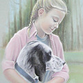 Girl With Her Dog by Yvonne Seiwell