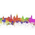 Glasgow Watercolor  Skyline  by Chris Smith