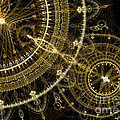 Golden Abstract Circle Fractal by Martin Capek