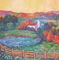 Golden Farm Scene by Kendall Kessler